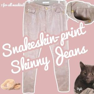 """7 for all mankind Snake Print """"The Skinny"""" Jeans"""